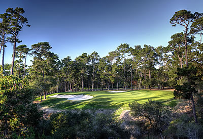 The Par-3 2nd hole at Poppy Hills