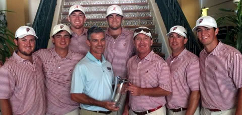 The Alabama Crimson Tide Golf Team (U. of Alabama photo)