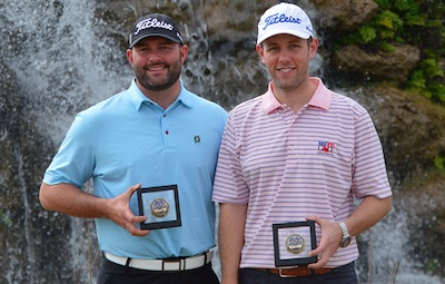 Texas North Four-Ball winners Zach Atkinson and Brad Gibson<br>Texas G.A. photo
