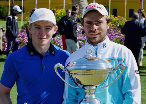 Runner-up Scott Gregory, left, and Champion Romain Langasque <br>(photo courtesy Adolfo Juan Luna).
