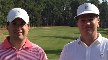 Steve Johnson and Mark Harrell at Pine Needles Invitational <br>(Photo Courtesy of Graham Gilmore)</br>