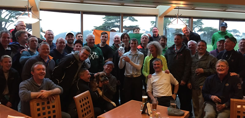 An Irish celebration following Daniel Connolly's win at the San Francisco City Championship<br>Randy Haag photo<br>