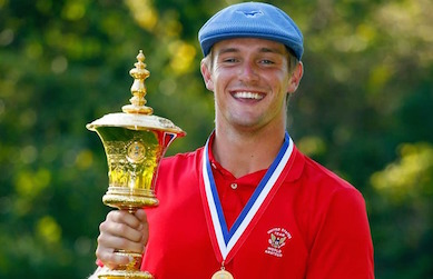 Bryson DeChambeau with U.S. Amateur Trophy <br>(USGA Photo)</br>