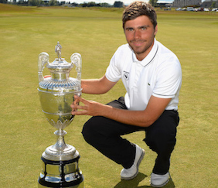 Romain Langasque with British Amateur trophy <br>(Photo Courtesy of Golf Monthly UK)</br>
