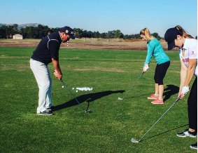 Teaching Professional Don Leone giving lessons at the facility <br>(Image courtesy of Coyote Creek Instagram)</br>