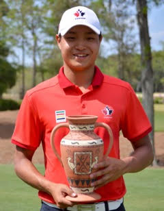 Tony Gil with Terra Cotta Invitational Trophy <br>(Photo from tournament director Denny Glass)</br>