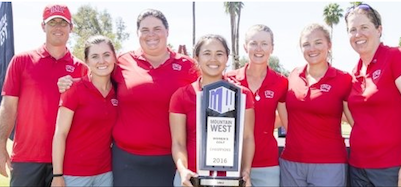 UNLV hoists MWC trophy <br>(UNLV Photo)</br>