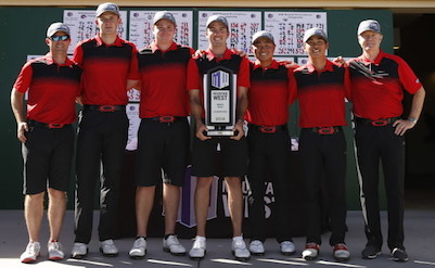 UNLV poses after winning MWC title <br>(UNLV Photo)</br>