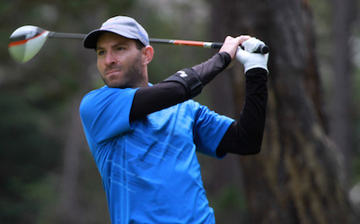 Matt Cohn during his title winning round <br>(NCGA Photo)</br>