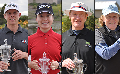 Winners Jake Koppenberg, Sarah Lawrence, Tom Brandes, and Lisa Smego <br>(Washington Golf Association Photo)</br>