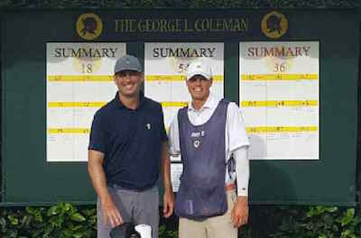 Coleman Invitational Winner TJ Shuart and caddie Matt Baran<br>(Photo Courtesy of TJ Shuart)</br>