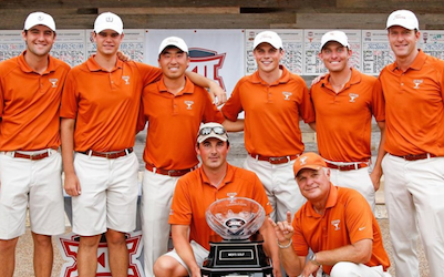 Texas celebrates fourth consecutive Big 12 championship <br>(University of Texas Photo)</br>