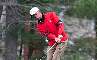 Shawn Scott and rest of field battled the course and weather on day one <br>(MGA Photo)</br>
