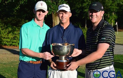 Zachary Bishop and Matt Carter earned medalist honors and top seed in match play <br>(Carolinas Golf Association)</br>