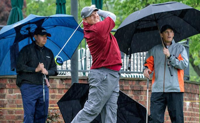 Chase Bailey and rest of field battle rain at Virginia Four-Ball <br>(VSGA Photo)</br>