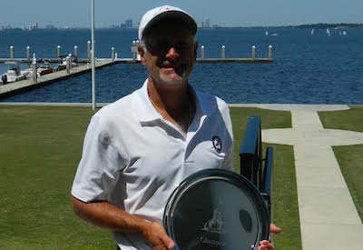 Doug Hanzel with 2016 Senior Division trophy <br>(Photo Courtesy of Clint Avret)</br>