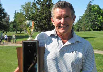 Mitch Harrison with Sacramento County Senior trophy <br>(Sacramento Golf County Photo)</br>