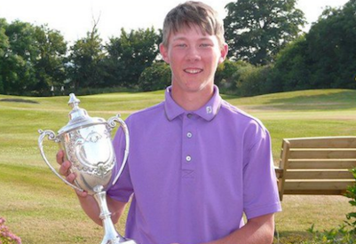 Josh Hilleard is SGA Amateur of Month <br>(Somerset Golf Union Photo)</br>