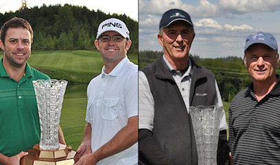 (L-to-R) Ben Garrett, Erik Olson and Senior Division winners Duane Diede, John Von Lossow <br>(WSGA Photo)</br>