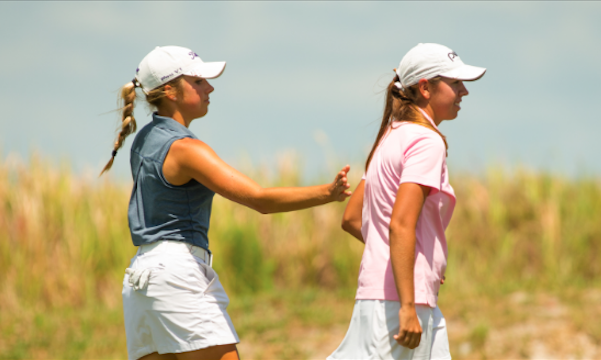 17-year-old teammates Sierra Brooks and Kristen Gillman start quickly at U.S. Women's Four-Ball <br>(USGA Photo)</br>