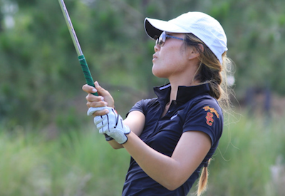 USC junior Karen Chung is a big reasons Trojans are out in front <br>(USC Athletics Photo)</br>