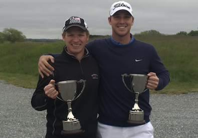 Tyler Cooke (L) and Bobby Leopold (R) win RI Four-Ball <br>(Photo Courtesy of RIGA)</br>