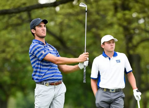 SMU teammates Andrew Buchanan (L) & Benjamin Baxter advanced to the finals<br>USGA