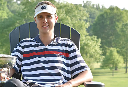 Matthew Mattare relaxes after winning Philadelphia Mid-Amateur <br>(Golf Association of Philadelphia Photo)