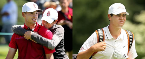 Jonah Texeira of USC and Beau Hossler of Texas