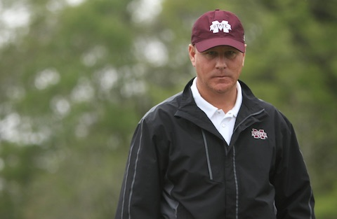 Mississippi State coach Clay Homan sets a good example<br> on the course this week at the Mississippi State Amateur