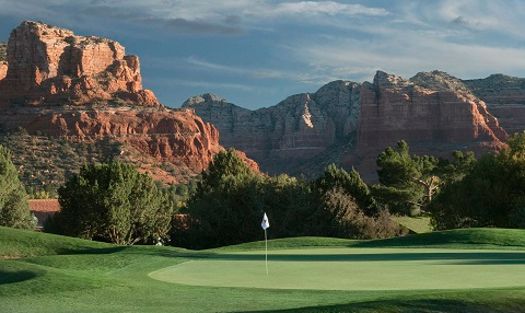 Hole No. 12 is just one of many fantastic views <br>(Sedona Golf Resort Photo)</br>
