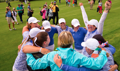 GB&I celebrates Curtis Cup win <br>(USGA Photo)</br>