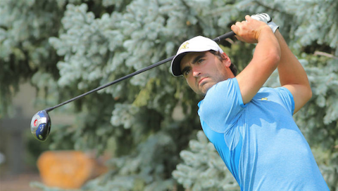 Antoine Rozner leads the British Amateur Field <br>(UMKC Athletics Photo)</br>