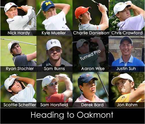 9 amateur qualifiers will join 2 exempt players at Oakmont