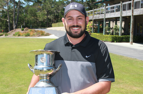 Zachary Soloman with Northern California Mid-Amateur trophy <br>(NCGA Photo)</br>