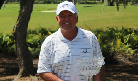 Peter Wegmann with Florida Senior Match Play trophy <br>(FSGA Photo)</br>