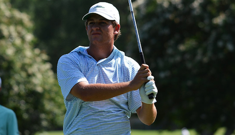 Mitchell Meissner in Texas Amateur first round action <br>(Texas Golf Association Photo)</br>
