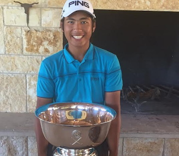 Galven Green with Southern Junior trophy <br>(Southern Golf Association Photo)</br>