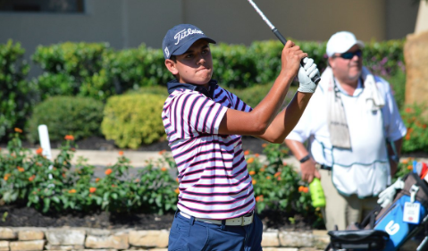 Chad Sewell during Texas Amateur action <br>(Texas Golf Association Photo)</b>