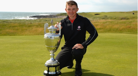 Scott Gregory with British Amateur trophy <br>(R&A Photo)</br>