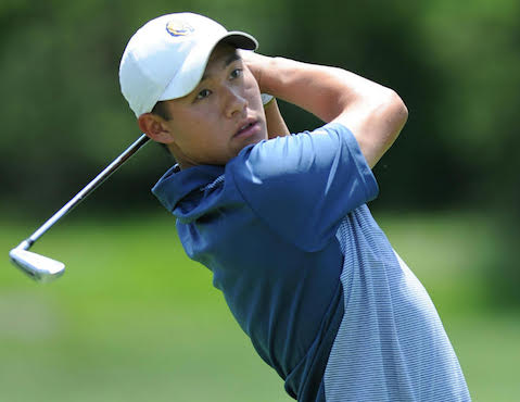 Collin Morikawa takes a swing during Sunnehanna Amateur play <br>(Sunnehanna Amateur Photo)</br>