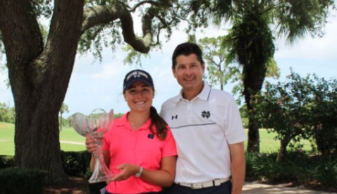 Emma Albrecht after Florida Women's Amateur victory <br>(FSGA Photo)</br>