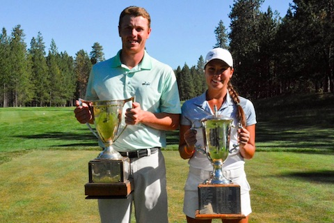 Oregon Amateur winners Conner Barr and Krissy Peterson