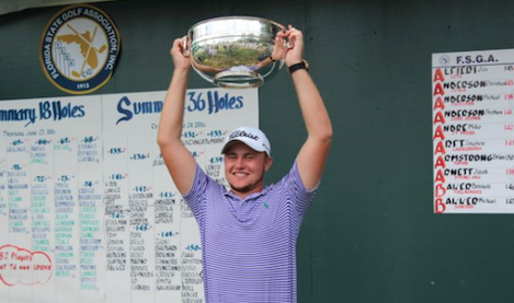 Jacob Huizinga after Florida Amateur win <br>(FSGA Photo)</br>