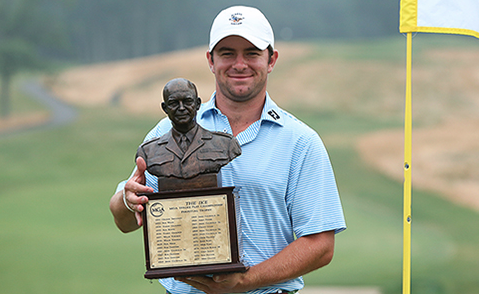 Cameron Young with the 'Ike' trophy <br>(MGA Golf)</br>