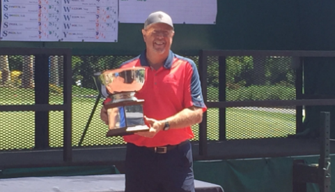 Robert Blair celebrates SCGA Senior victory <br>(SCGA Photo)</br>