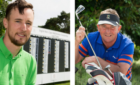 English Mid-Amateur leaders Gareth Sheridan (L) and Lewis Watcham (R) <br>(England Golf Photo)</br>