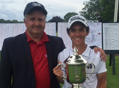 Davis Chatfield with Rhode Island Amateur trophy <br>(RIGA Photo)</br>