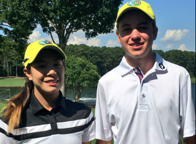 AJGA Rolex TOC winners Paphangkorn Tavatanakit and Davis Shore <br>(AJGA Photo)</br>