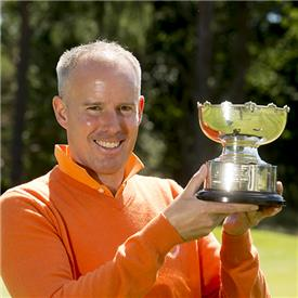 Jorg Paulus with Logan Trophy <br>(England Golf and Leaderboard Photography)</br>